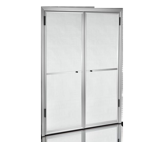 mosquietera puerta abatible doble