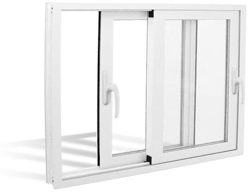 ventana corredera en blanco